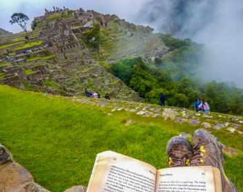 Relaxing after a big trek to Machu Picchu