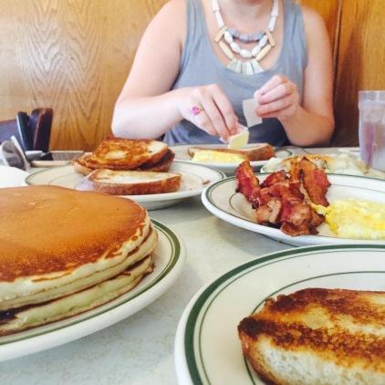 The Original Pantry breakfast feast
