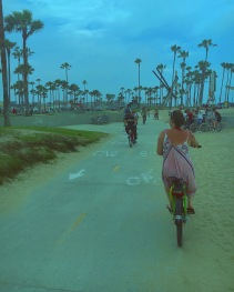 Cycling to Venice Beach